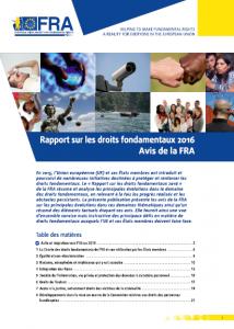 Rapport sur les droits fondamentaux 2016